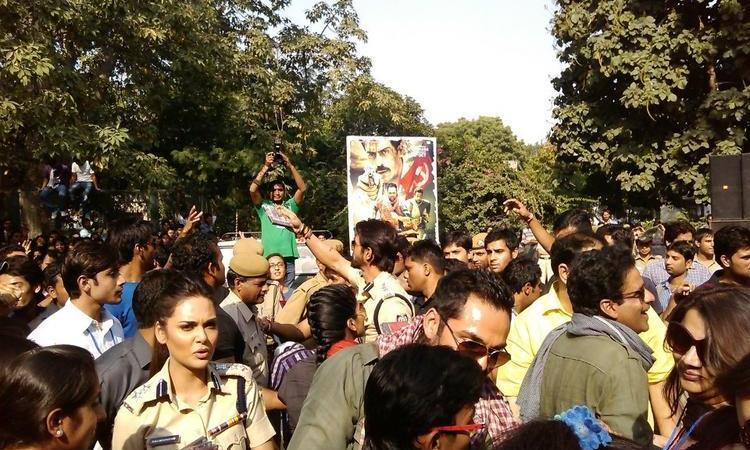 Promotion Of Movie Chakravyuh At Delhi Hindu College