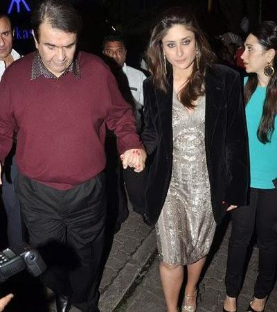 Saif, Kareena And Karisma At Randhir Kapoor's Birthday Bash