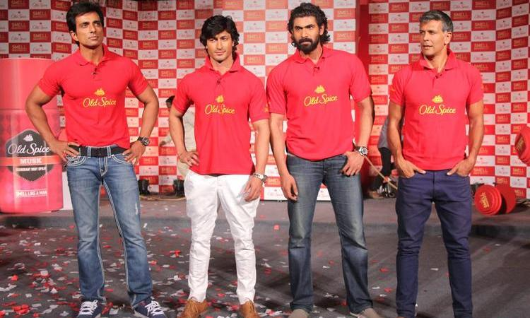 Sonu,Vidyut,Rana And Milind At Old Spice's Deodorant Launch Event