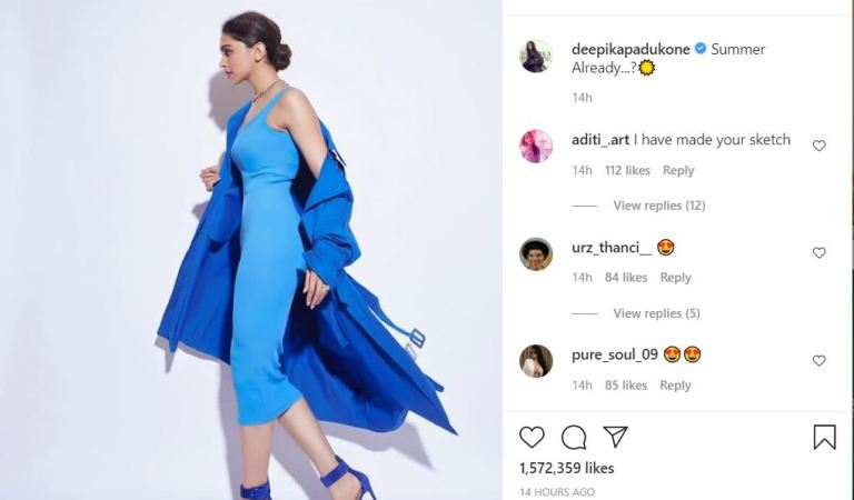 Deepika Padukone is wondering if it's 'summer already' dressed in a cool blue ensemble