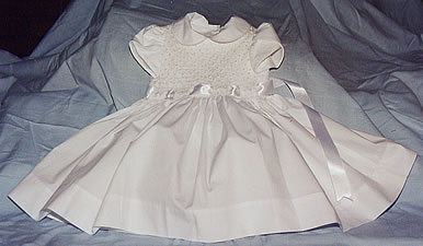 pearl smocked gown - click here for a detailed close-up