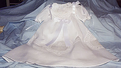handmade lace gown - click here for a detailed close-up