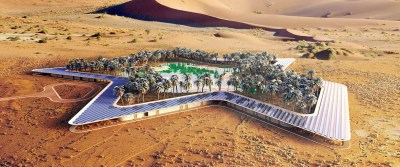 Oasis Eco-Resort Aerial overview Baharash Architecture1