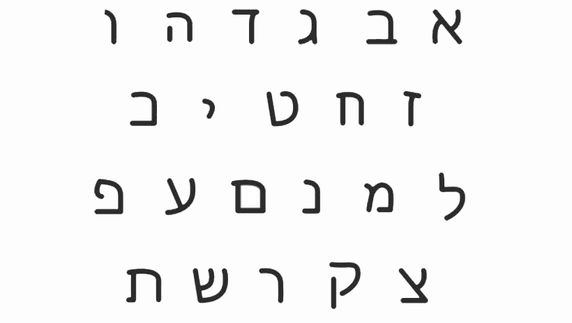 The Hebrew Alphabet: Middle East and North African