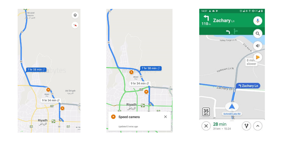 Google Maps now shows sd cameras and sd limits in ... on google maps nigeria, google maps turkey, google maps malta, google maps libya, google maps japan, google maps poland, google maps pakistan, google maps riyadh, google maps doha, google maps uae, google maps brazil, google maps argentina, google maps brunei, google maps mar, google maps yemen, google maps phi, google maps indonesia, google maps qatar, google maps united arab emirates, google maps finland,