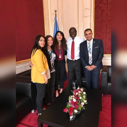 MENACS members meet the Executive Secretary of the CTBTO, Dr. Lassina Zerbo.