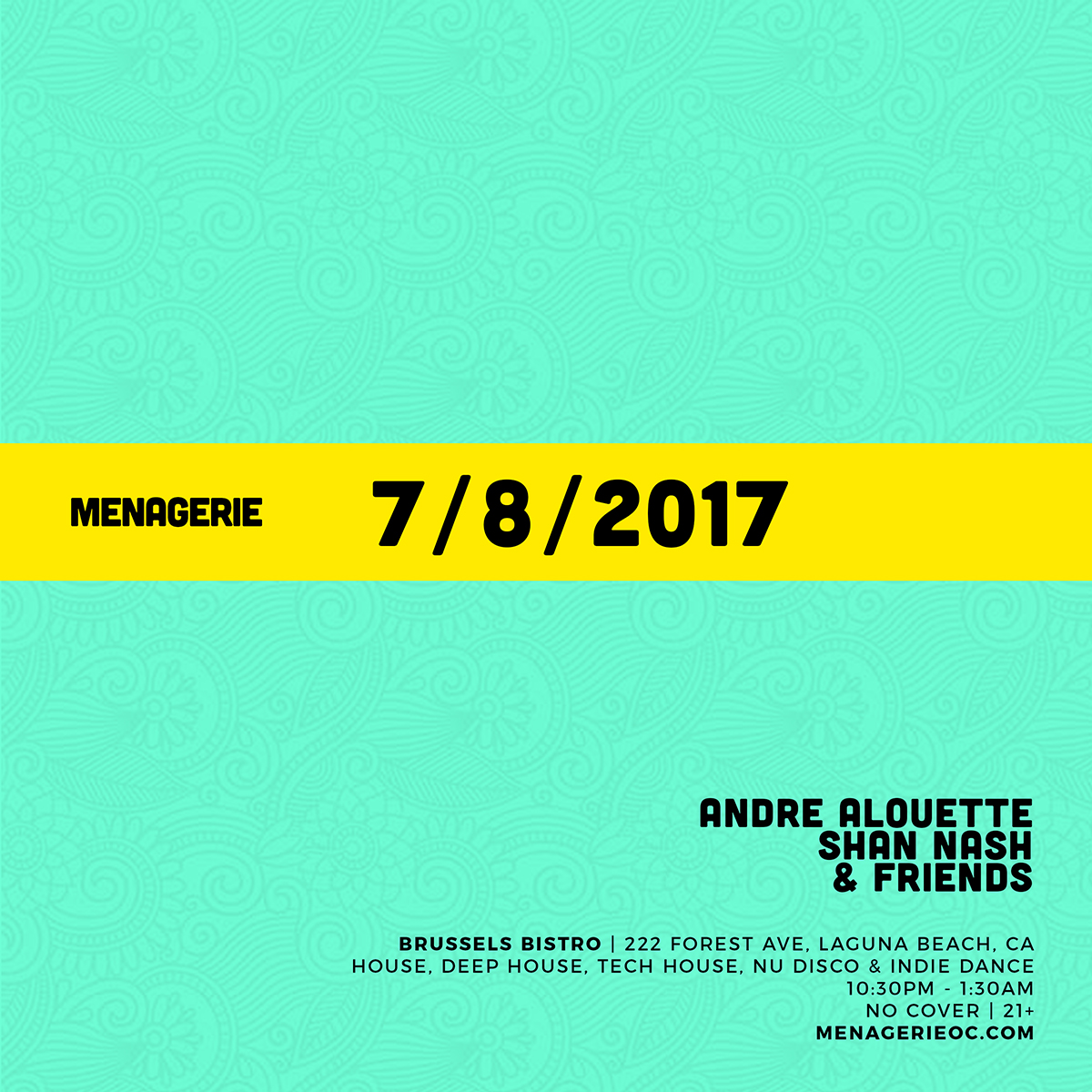 7-8-2017 Menagerie OC at Brussels flyer