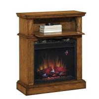 Lakewood Electric Fireplace Mantel in Premium Oak at Menards