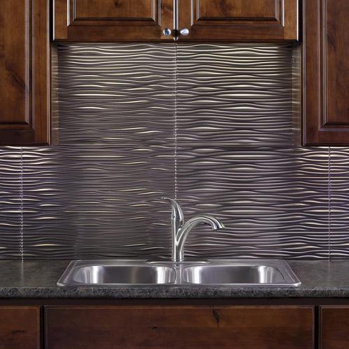 FASADE Waves 18 X 24 PVC Backsplash Panel At Menards