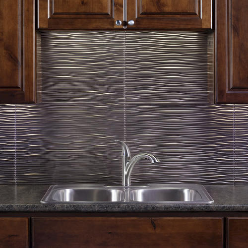 menards kitchen backsplash island granite fasade waves - 18