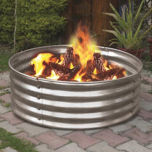 "Backyard Creations 36"" Galvanized Fire Ring at Menards"