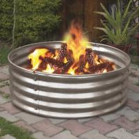 "Backyard Creations 36"" Galvanized Fire Ring at Menards"