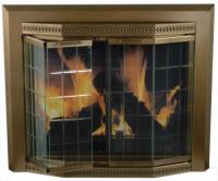 Grandior Bay Small Bi-Fold Bay Style Fireplace Door at ...