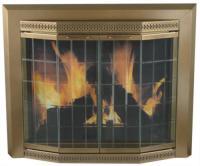 Grandior Bay Medium Bi-Fold Bay Style Fireplace Door at ...