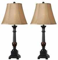 Andy 2-Pack Golden Flecked Bronze Table Lamp at Menards