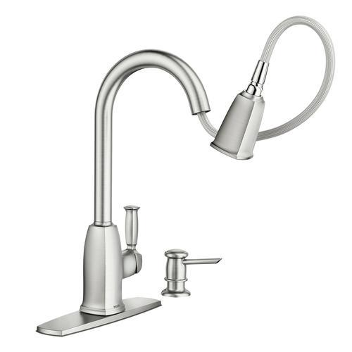 Moen Wellsley Single Handle Pulldown Kitchen Faucet Menards