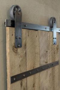 """Aspen Barn Door Hardware Kit 32"""" Door - Bronze at Menards"""