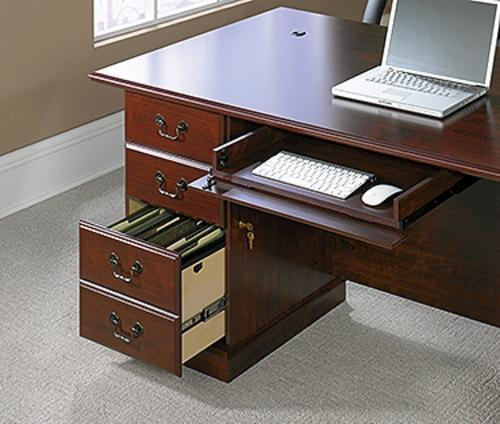Sauder Heritage Hill Classic Cherry Executive Desk at Menards