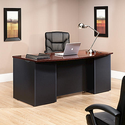 Sauder Via Classic Cherry Executive Desk at Menards