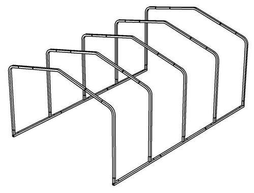 12'W x 27'L x 8.5'H Storage Shelter Frame at Menards®