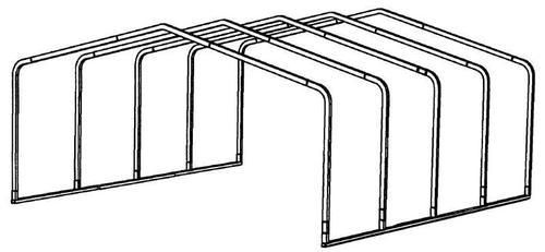 20'W x 18'L x 7.5'H Storage Shelter Frame at Menards®