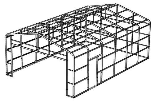 20'W x 30'L x 10'H Garage Frame at Menards®