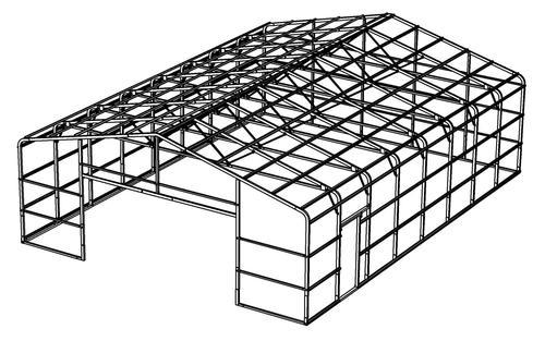 30'W x 40'L x 10'H Building Frame at Menards®