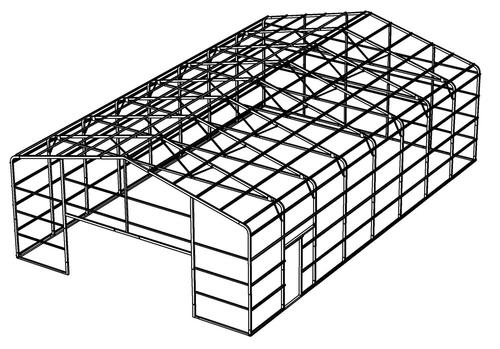 30'W x 48'L x 12'H Building Frame at Menards®