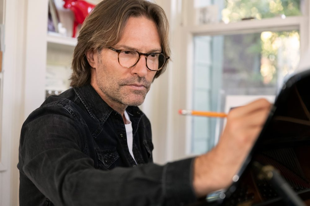 Eric Whitacre composing music.