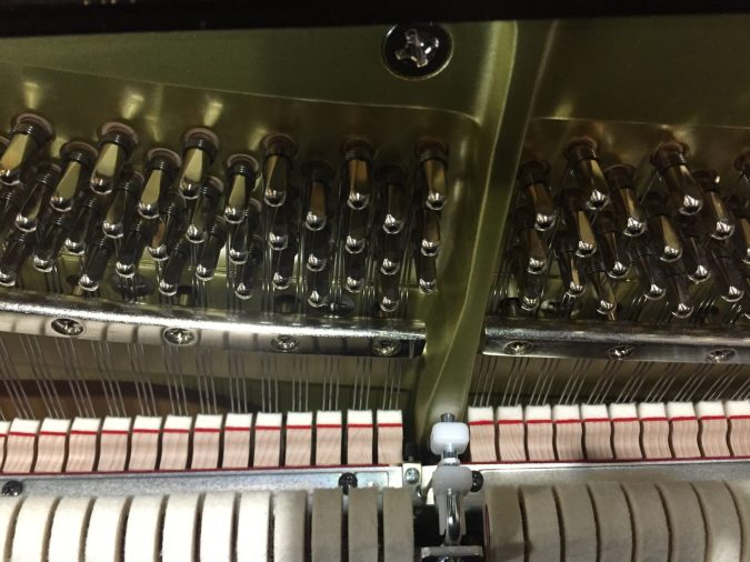 Action and Hammers of TA2 Piano