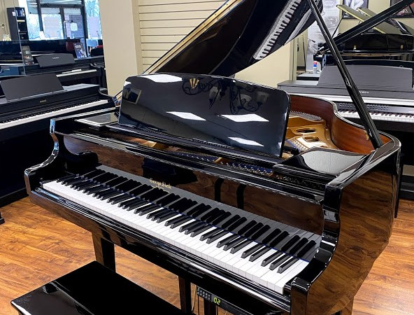 """Steck 4' 7"""" GS-42 Grand Piano with PianoDisc – Polished Ebony"""