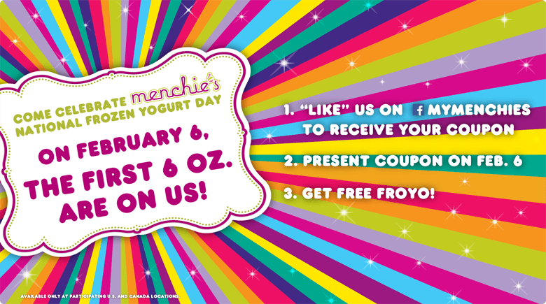 Come celebrate Menchie's National Frozen Yogurt Day!
