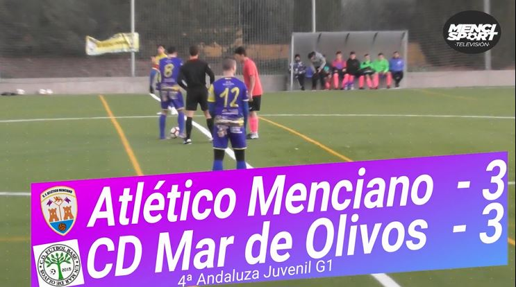 Photo of Mencisport TV | Atlético Menciano 3-3 CD Mar de Olivos (4ª Andaluza Juvenil G1)