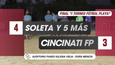 Photo of Mencisport TV| Soleta y 5 Más 4-3 Cincinati FP (Gran Final «I Torneo Fútbol Playa Doña Mencía»