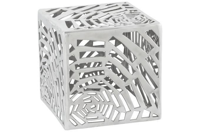 Pouf dco argent en aluminium Rosie  Pouf Design  Pouf Gant Pas Cher