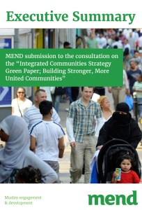 MEND Submission to the Green Paper on Integration- executive summary
