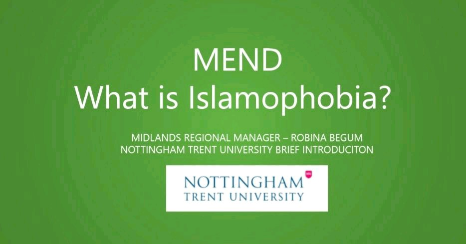 Conversations about…Islamophobia at Nottingham Trent University 2021