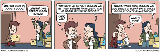 samenwonen cartoon