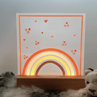 Sfeerlampje Regenboogje oker
