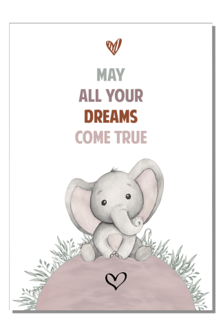 Kinderkamer poster May all your dreams (m)