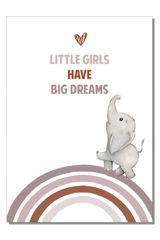 Kinderkamer poster Little girls big dreams