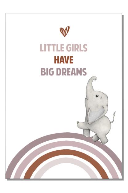 Kinderkamer poster Little girls big dreams
