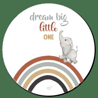 Wandcirkel/Wandsticker Dream big (j)