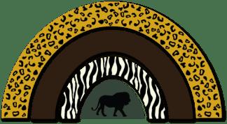 Wandfiguur - Regenboog jungle