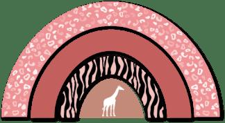 Wandfiguur - Regenboog Jungle Roze