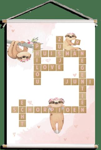 Scrabble schoolposter Philou