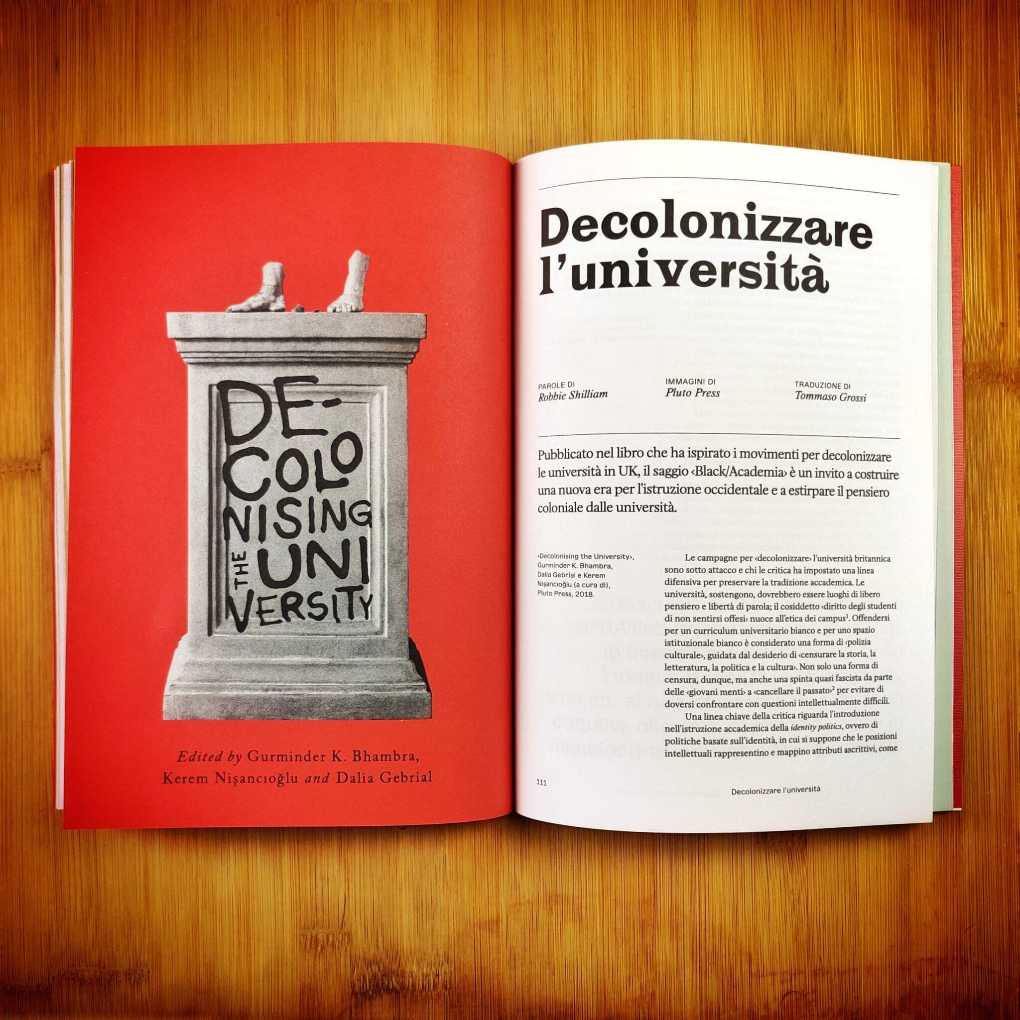 Decolonizzare l'università (da Pluto Press)