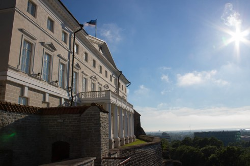 Government building at the top of Toompea Hill