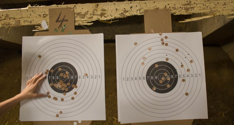 My target was the left one