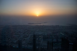 Sunset from the burj